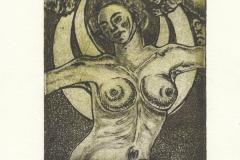 Ayse Anil, Exlibris Ayse Anil ''Selene'', C3, C4, C5, 13/10 cm, 2020