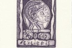 Ayse Anil, Exlibris Nezih Basgelen ''Athena'', C3, C4, C5, 12.5/8 cm, 2020