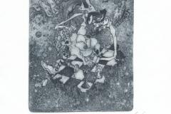 Eleonora Atanasova, Exlibris Eleonora Atanasova ''Instane inside'', C3, C5, 10x13.5 cm, 2018