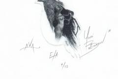 Yani Balimezov, Exlibris AVA, 10.5x6 cm, 2021
