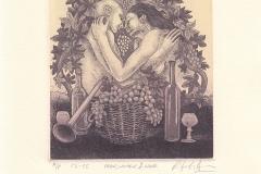 Rakesh Bani, Exlibris Man, women and wine