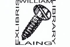 Derek Michael Besant, Exlibris William Laing Library, S1 6/6.5 cm, 2020