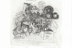 "Igor Bilykivski, Exlibris ""Varna"", 14.7/14.7 cm, C3, 2018"