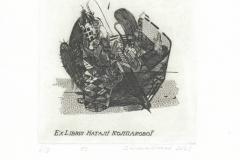 Igor Bilykivski, Exlibris Natalia Koplakova, C3, 13/12.5 cm, 2021