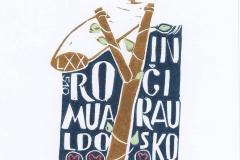 Lolita Braza, Exlibris Romualdo Incirausko, X3, 11.5x6.9 cm, 2021