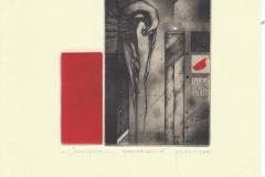 "Zdenek Bugan, Exlibris Ovidiu Petca ""Sacrifice"", 12.5/11.5 cm, C3, C4, C5, C7, 2018"