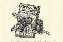 Eloy Campuzano, Exlibris Eloy Campuzano ''Reconciliation'', X3, 14x15 cm, 2021
