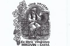 "Vitazoslav Chrenko, Exlibris Mikovin - Vinnery ""Old vinemaker"", 10/8.5 cm, X3, 2016"