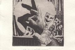"""Vedat Colak, Exlibris Ilknur Gumusli """"Shadow of the scene"""", 10/12 cm, C3, C4, 2018"""