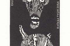 Lukasz Cywicki- Exlibris Rafata Tyszczaka, 2020, 10/9 cm, X3