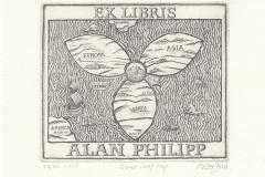 Peter Ford, Exlibris Alan Philipp, C3, C5, 10.2x12.2 cm, 2016