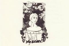 Asli Gokce, Exlibris miss Aysem, X6, 10x6.5 cm, 2021