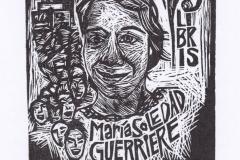 Natalia Gomez, Exlibris Maria Soledad Guerriere, X3, 8.2/9.9 cm, 2020