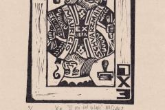 Natalia Gomez, Exlibris Maurizio Schvarzman ''El Rey del Ex Libris'', X3, 9/12.6 cm, 2020