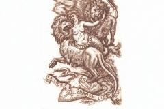 Victor Guzeniouk, Exlibris Gdansk Lions, C3, 10.5x7 cm, 2019
