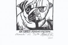 Tamas Havasi, Exlibris Jordan Petkov ''Favourites'', X3, 8x8 cm, 2021