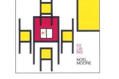 """Ries Hoek, Exlibris Moel Moore """"Miniature Exlibris"""", 2013, CGD"""
