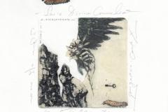 Denitsa Ivanova- Alexandrova, Exlibris M. Aleksandrova, Serie ''Divina Commedia''- Purgatorio, canto X, C3, col., S, 19x20.5 cm, 2021