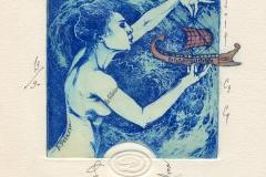 """Denitsa Ivanova-Aleksandrova, Exlibris B. Petkov """"The game of the Sea Goddess"""", 2014, C3, C4"""