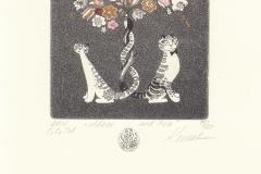 """Olga Keleinikova, Exlibris Joop Sliep """"Adam and Eva"""", 12.5/9.9 cm, C3, C5, col., 2016"""