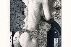 "Hristo Kerin, Exlibris Theo Maes ""Wine"", 2013, C3, C7, col."