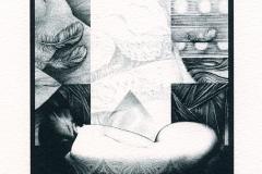 Svetlana Kostova, Exlibris Tsveta Popova, 2014, 10.5/ 14 cm, L1
