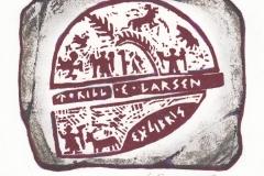Torill Elisabeth Larsen, Exlibris Torill Elisabeth Larsen ''Norwegian shaman drum- Fragment'', Tm-2-col., 10.2x12.9 cm, 2018