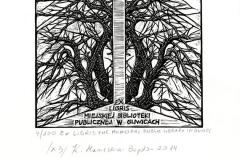 Krystyna Maniecka - Bogdan, Exlibris the Minicipal Public Library in Gliwicach, 2014, X3