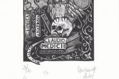 Marcela Miranda, Exlibris Claudio Medici - No title, X6, 9.6x9.4 cm, 2020