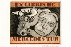 Cristina Moscoso Gomez, Exlibris De Mercedes Tur, 2012, C3