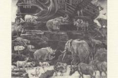 Ivo Mosele, Exlibris Wang Ying ''The Noah's Ark'', 14/12 cm, C7, 2019