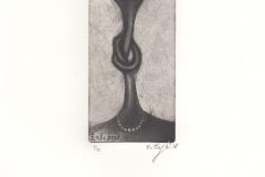 Feresteh Mottaghi, Exlibris I, 6/12 cm, C4, C7, intaglio, 2018