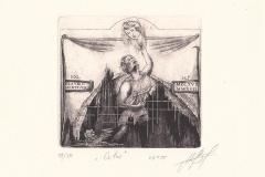 """Maryana Myroshnychenko, Exlibris Marco Franzetti """"Orfeo"""", 12/13 cm, C3, C5, 2017"""