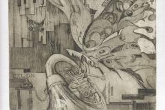 Andrii Naboka, Exlibris Oleg Naboka ''Jazz'', C3, C5, C7, 18.3x18 cm, 2020