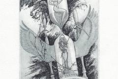 Oleg Naboka, Exlibris Josef Burch ''Memento mori'', C3, C5, C6, 15x10 cm, 2013