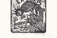 Roberto Jose Nascimento, Exlibris ''Birds'', X3, 13/15 cm, 2021