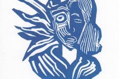 Ignacio Navarro Cortez, Exlibris Concara de Mujex, X3, 11.5x8 cm, 2020