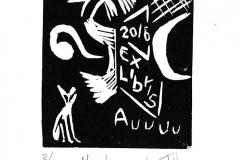 """Ignacio Cortez Navarro, """"Mi alma en la Luna"""", 2016, 10/ 7 cm, X3"""