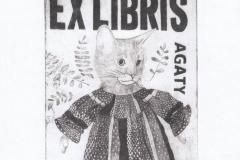 Agata Perzynska, Exlibris Agaty, C4, 11/13.5 cm, 2020