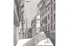 Vincenzo Piazza, Exlibris Angelo Dragone, 14/9.2 cm, C3, 2017