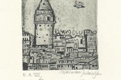 "Neriman Pilavoglu, ""Galata Tower"", 2016, 10.8/ 8.5 cm, C3, C4"