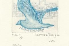 """Neriman Pilavoglu, """"Istanbul ant the seagulls"""", 2016, 10/ 10 cm, C3, C4"""