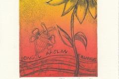 """Neriman Pilavoglu, """"Sunflower"""", 2016, 12.3/ 9.8 cm, C3, C4, C5"""