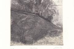 """Marta Pilloni, Exlibris Luigi Squalermo """"Pulse"""", 13/13 cm, C3, C5, C6, 2018"""