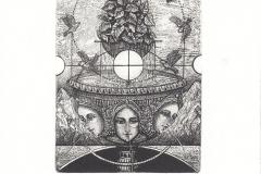 "Yulia Protsyshyn, Exlibris Frans van  der Veen""The tree graces"", 10/14.5 cm, C3, C5, C7, 2017"