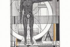 Yulia Protsyshyn, Exlibris Dirk Matterhaen, C3, C5, C7, col., 12x16 cm, 2020
