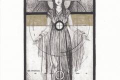 Yulia Protsyshyn, Exlibris Feichang ''Fortuna'', C3, C5, C7, col., 9x14 cm, 2021