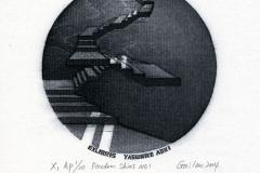 "Giulan Qiu, Exlibris Yasuhiko Adki ""Freedom Skies"", 2013, X1"