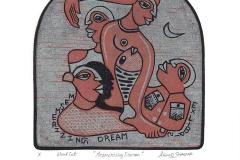 "Arvind Sharma, Exlibris ""Mersmerizing dream"", 15/15 cm, X1, 2018"