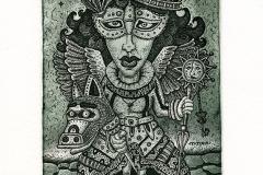 """Kirill Skachkov, Exlibris Nely Van de Weekd """"Masquerade"""", 2014, C3, C4, C5"""